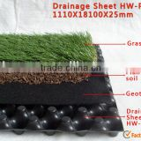 HDPE doulbe side new lightweight building construction materials plastic drainage board green roof drainage sheet strip sheet