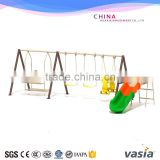 Children outdoor playground slide and chair/children garden swing and slide/kids outdoor garden swing with slide