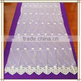 zjc-4 china made curtain fabric 15 years top-rated golden seller newest 100% polyester Water soluble embroidered fabric