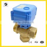 3-way T flow Electric valve 12V/DC for Leak detection&water shut off system,Water saving system, automatic control valve