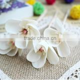 Christmas gift decorative wholesale sola wood flower with green leaf and buds