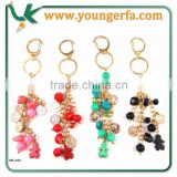 Promotional keychain Wholesale Fashion Design Beads and Coin Keychain in Different colour