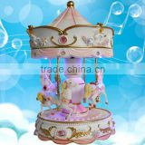 fashion polyresin carousel with light and music box                                                                                                         Supplier's Choice