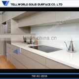 Modern Customized Countertop Edging and customized Countertop white Color precut kitchen countertop