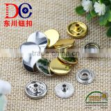 Hot Selling Quality Snap Button Hanging Plating Silver/Gold Ring Snap Button for Jacket