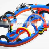 2016 Outdoor inflatable giant speedyway Go Kart race track for sale