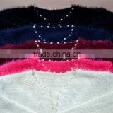 2015 new knitwear long sleeve winter sweater lady leisure beaded pocket women cardigan fashion