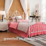 High quality Korean style white double bed sheet set
