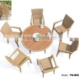 Modern Cube Set Table Outdoor Dining Set Durable Garden Table Chairs Prices Restaurant Furniture