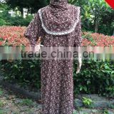 Wholesale Elegant Printed Muslim Women Prayer Dress Islamic Clothing Ladies Hijab Abaya