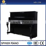HD-L126 Musical Instrument Digital Piano Factory 88 keys Touch Sensitive Hammer Keyboard MIDI Black Polish SPYKER upright piano