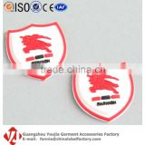 Brand Logo Golf Bags Gym Clothes Silicone Patch Rubber Badge