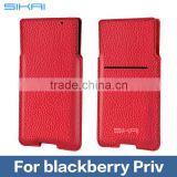 SIKAI Black Red Brown High quality Genuine Leather Sleeve Pouch Bag Case Cover For Blackberry Priv Pouch bag