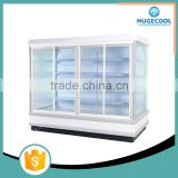 Glass cabinet supermarket showcase refrigerator for meat
