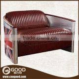 Modern living room furniture english style uk modern leather sofa metal frame