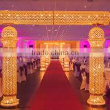 New hot fashion stage decoration backdrop design sample / church backdrop decoration /indian wedding stages decorations