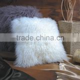 colorful custom made mongolian tibet lamb fur pillow