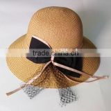 2015 Fashion Summer Outdoor Sun Protection Beach Hat Straw Ladies Sun Hats
