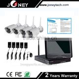 IR Camera CCTV Camera System 1.3MP IP camera 4ch wireless all in one NVR 10 inch monitor wifi nvr kit