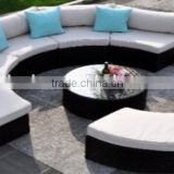 2016 New Design Round Edg Sofa Patio Furniture Wicker Furniture Set Rattan Sectional Sofa