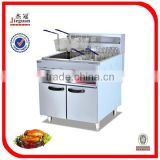 High Quality Freestanding 2-tank & 4-basket Stainless steel electric fryer DF-26-2 0086-13632272289