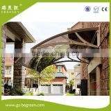 plastic aluminum metal retractable polycarbonate awning door canopy with folding roof