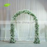 GNW 8ft cherry blossom flower garden and home gate arch door interior design for wedding decoration