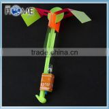 With bigger wings and slingshot colorful led flying arrow helicopter