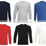 Custom printing Mens Long Sleeve T-Shirt Cotton Plain Top Wholesale Clothing apparel shirts in China