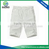 Mens 100% polyester black stripes print Dry fit performance golf shorts