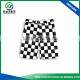 customize Dry fit performance white-black plain men golf shorts 2016