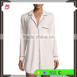 Custom Pajamas Manufacturers Wholesale Clothing Fashion Sleepshirt For Women Sleep Wear long sleeves Nightwear