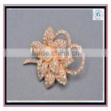 2016 Rhinestone Rose Tone Gold Bridal Brooch Gold Wedding Sash Pin Pearl Brooch DIY Supplies