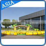 Inflatable Amusement Game Go Kart Race Inflatable Zorb Ball Race Track Air Track For Balls