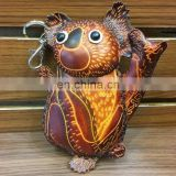 Selling best leather cartoon animal clear Koala coin purse