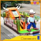 AOQI new design inflatable cowboy slide with free EN14960 certificate