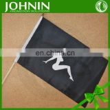 custom promotional printed 30*45cm hand held plastic flag stick