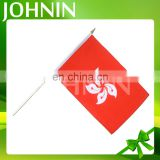 Johnin wholesale polyester custom mini cheering Hong Kong hand flag
