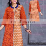 Hand block printed tunic kurtis / 100% cotton tunic / floraldesign pattern kurits