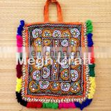 RABARI HAND EMBROIDERY MIRROR TRADITIONAL THELI BAG-BANJARA HANDMADE TRADITIONAL THELI HANDBAG