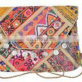"V Banjara clutch 8""x13"" Vintage purse Messenger Cross body Handmade Old COIN Tribal Gypsy Indian Banjara clutch kutch Wholesale"
