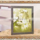 classic gridding customized metal frames for kids childhood plating silver metal picturs frames