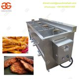 Semi Automatic Green Peas Frying Machine|Potato French Fries Fryer Machine With 4 Baskets