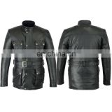 Top Quality Genuine Cow Hide Super Soft Leather Motorcycle Jacket