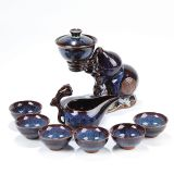 Full semiautomatic tea set with purple sand
