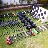 Archery saver finger bow and foam tip arrow game tag include mask/ Inflatable Bunkers/target/chest protector