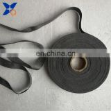 pure  316L stainless steel staple fiber spun yarn conductive tape ribbon 17mm metal tape ribbonXTAA080
