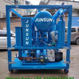 JUNSUN Low Price High Quality Transformer Oil Dehydration Plant, Insulating Oil Filtration System, Dielectric Oil Purification Machine