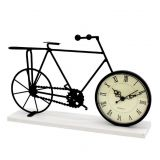 Vintage Metal Crafts black Decorative Metal Bicycle Table Clock