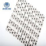 Mixed weaving stainless steel decorative mesh panel